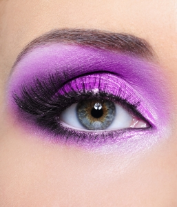 Purple make-up of woman eye