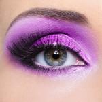 Purple  make-up of woman eye